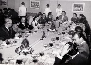 1972 Comida de Pastas Gallo no Politécnico